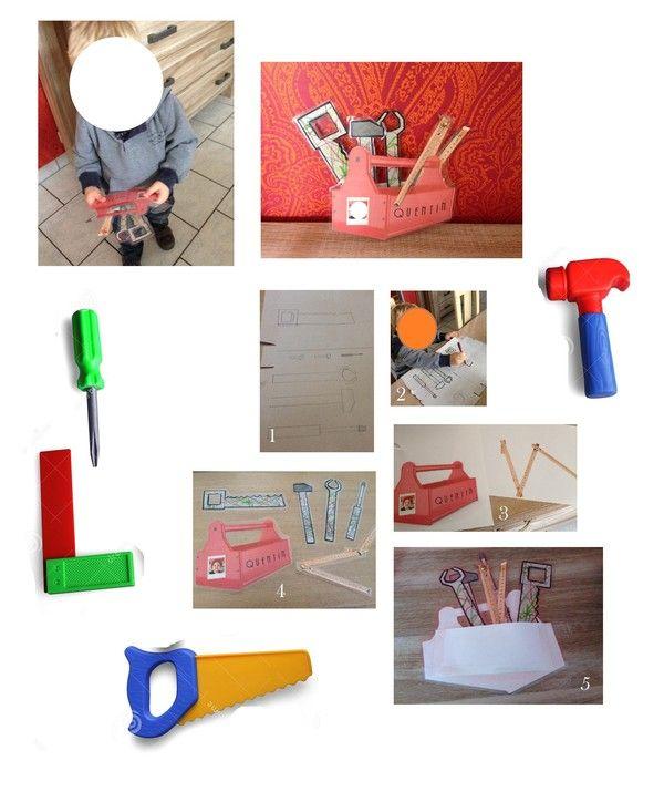 Boite outils en papier - Activite manuelle 1 an ...