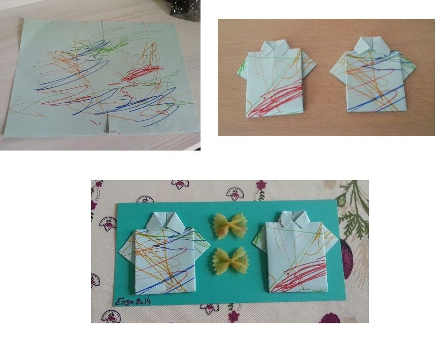 chemise et noeud papillon origami. Black Bedroom Furniture Sets. Home Design Ideas