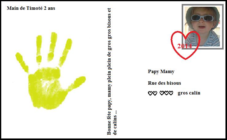 Carte bonne fete papy mamy papa maman - Bon anniversaire papi ...